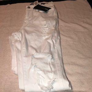 White Glistening Jeans